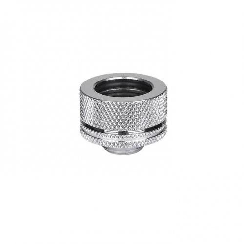 "Thermaltake Pacific G1/4 PETG Tube 16mm (5/8"") OD Compression – Chrome"