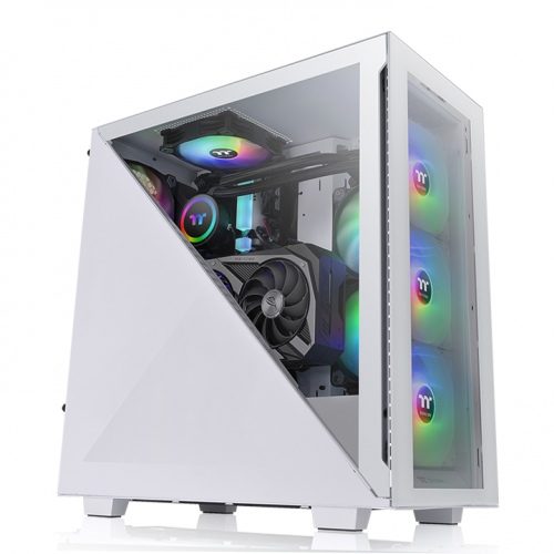 Divider 300 TG Snow ARGB Mid Tower Chassis