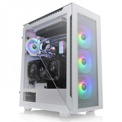 艾坦 Divider 500 TG ARGB 強化玻璃中直立式機殼 雪白版
