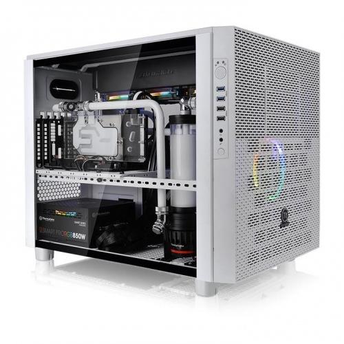 Core X5 TG 強化玻璃平躺式概念機殼-雪白版