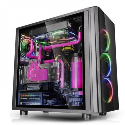 光透 View 31 TG RGB強化玻璃中直立式機殼