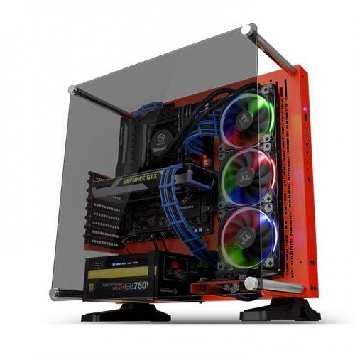 Core P3壁掛式ATX強化玻璃機殼 (耀眼紅)