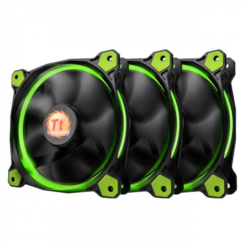 Riing 12 LED Green (3 fans pack)