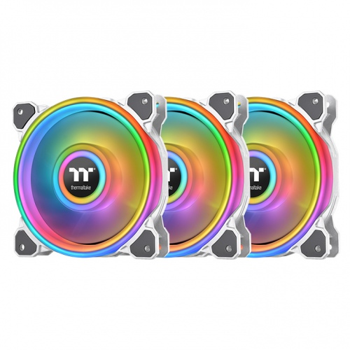 Riing Quad 14 RGB Radiator Fan TT Premium Edition 3 Fan Pack - White (Controller included)