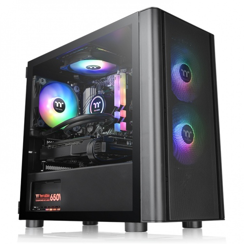 V150 Tempered Glass ARGB Breeze Micro Chassis