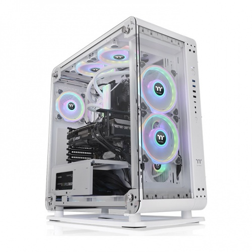 Core P6 Tempered Glass Snow Mid Tower Chassis