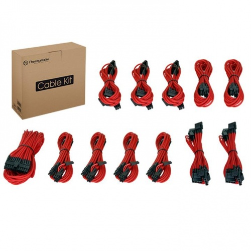 Individually Sleeved Cable Kit - Red