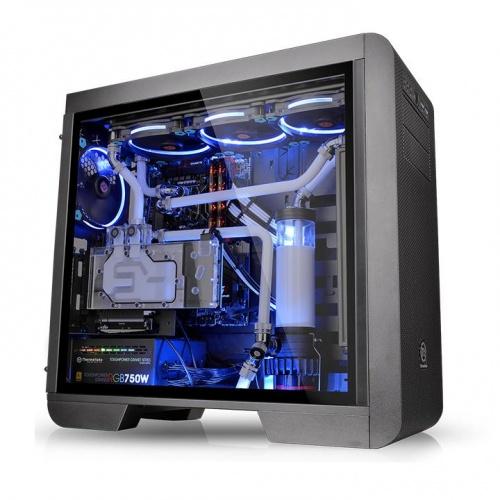 Core V51 TG中直立式開窗強化玻璃機殼