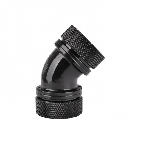 Pacific PETG Tube 45-Degree Dual Compression 16mm OD - Black