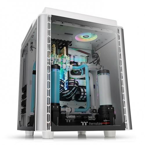 Level 20 HT 高直立式強化玻璃機殼 – 雪白版