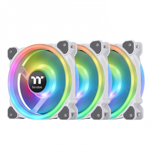 Riing Trio 12 RGB Radiator Fan White  TT Premium Edition (3-Fan Pack)