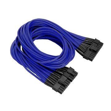 20+4Pin ATX單編織網線材 – 藍色