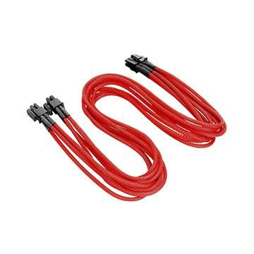 4+4Pin CPU單編織網線材 - 紅色