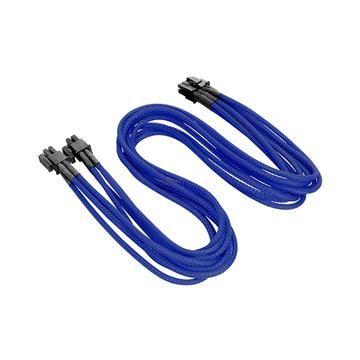 4+4Pin CPU單編織網線材 - 藍色