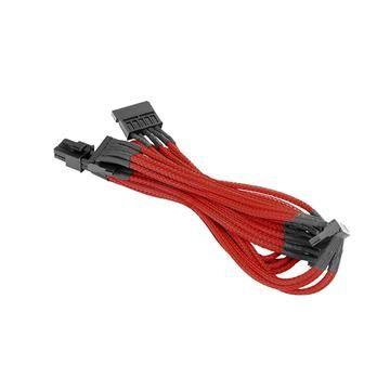 SATA單編織網線材 – 紅色