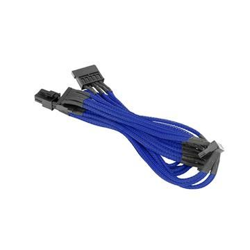 SATA單編織網線材 – 藍色
