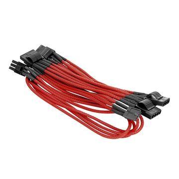 4Pin peripheral單編織網線材 –紅色