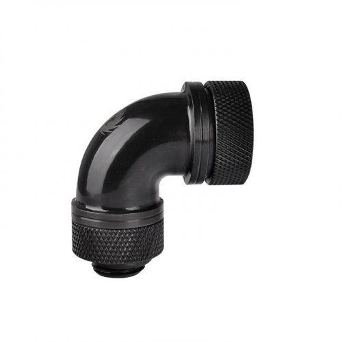 Pacific G1/4 PETG硬管專用90度管接頭 外徑16mm – 黑色