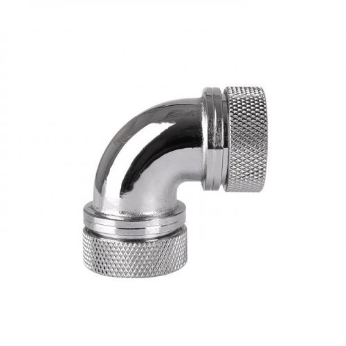 Pacific PETG Tube 90-Degree Dual Compression 16mm OD - Chrome