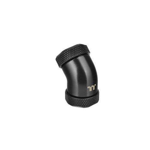 Pacific G1/4 PETG Tube 45-Degree dual compression 12mm OD – Black