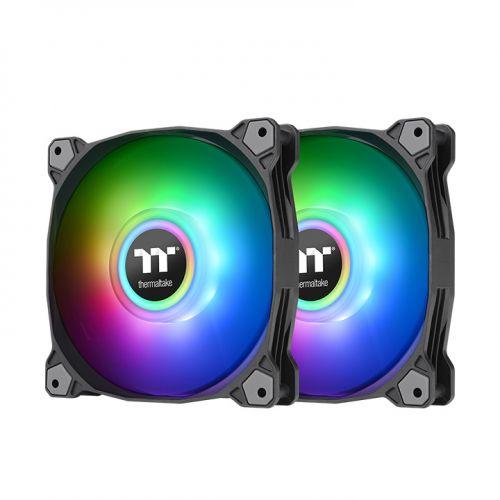 Pure Duo 14 ARGB Sync Radiator Fan (2-Fan Pack)-Black