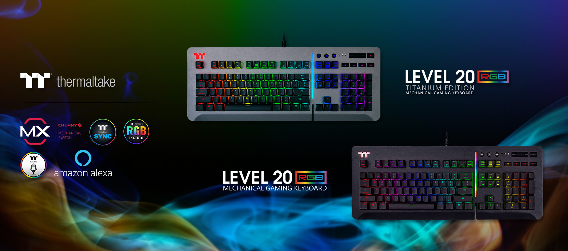 Level 20 RGB Titanium Gaming Keyboard (Speed Silver)