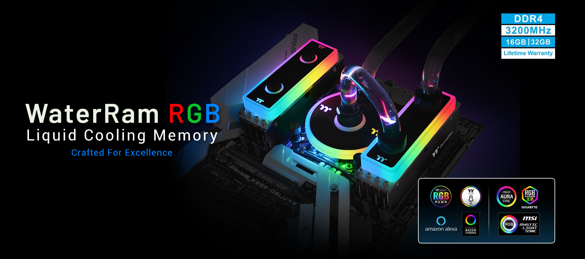 WaterRam RGB Liquid Cooling Memory