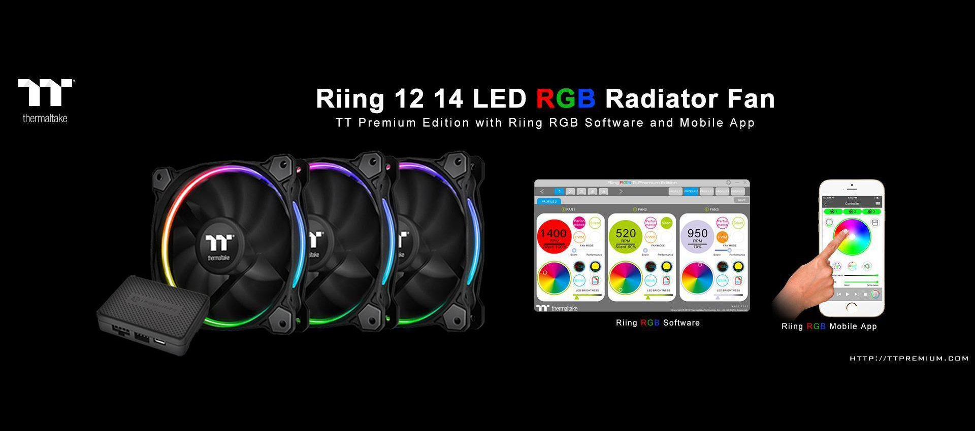 Riing 14 RGB Radiator Fan TT Premium Edition