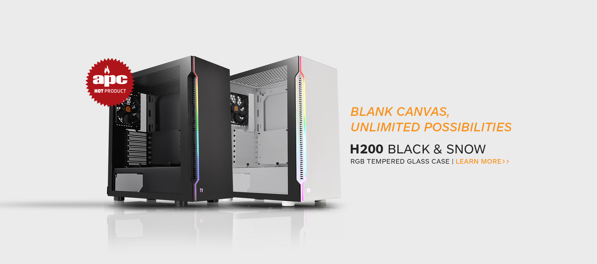 H200 Tempered Glass Mid Tower Chassis