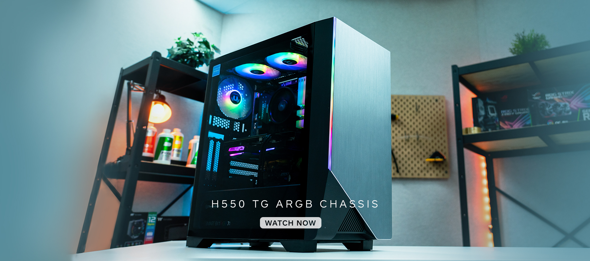 H550 Tempered Glass ARGB Mid-Tower Chassis