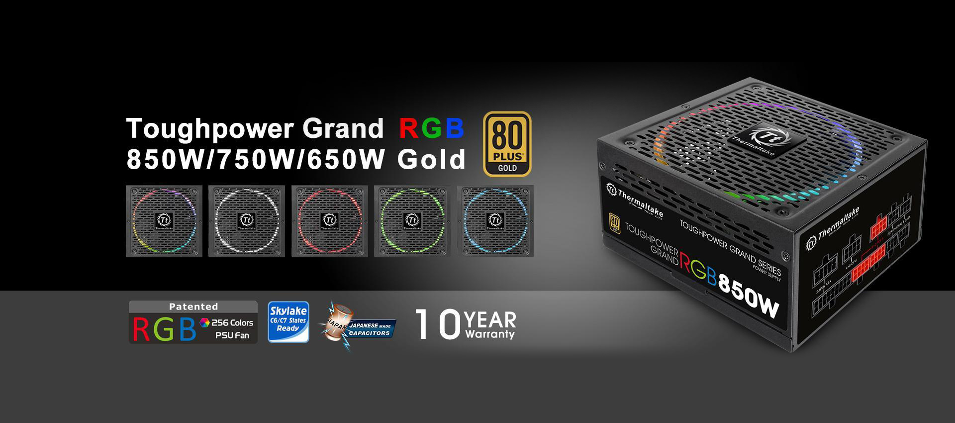 Toughpower Grand RGB 850W Gold Fully Modular