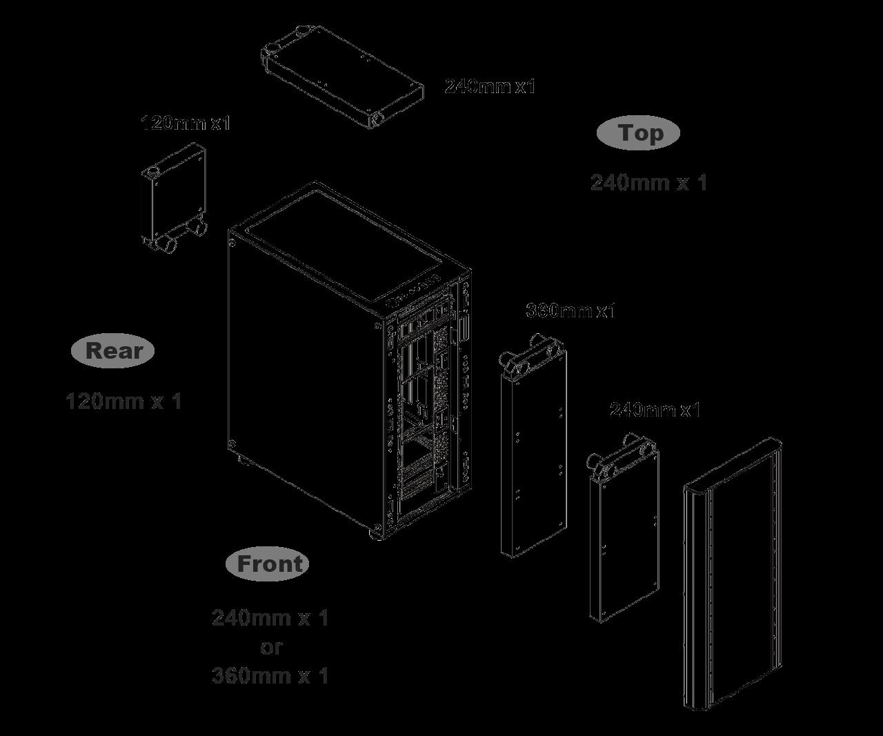 Case Thermaltake V250 ARGB Tempered Glass Black