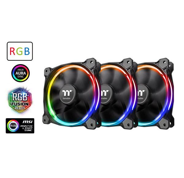 Riing 12 LED RGB Radiator Fan Sync Edition (3-Fan Pack)