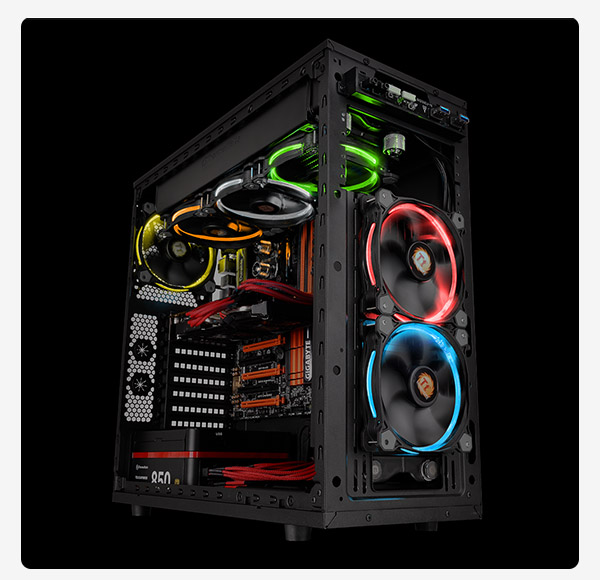 Riing 14 LED RGB Colors Fan (3 Fan Pack)
