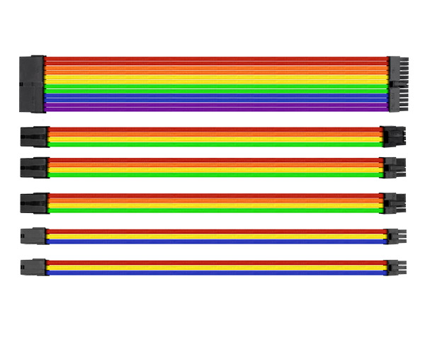 Ttmod Sleeve Cable Cable Extension Rainbow